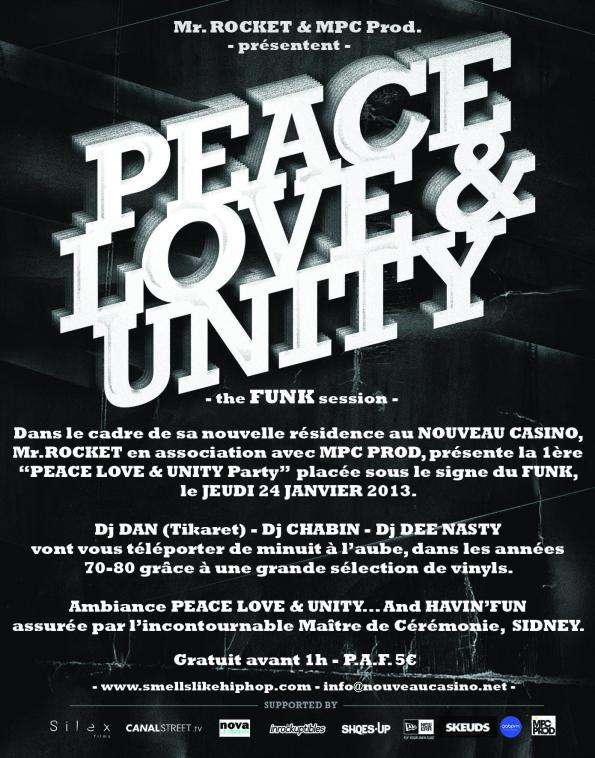Smells like Hip Hop - 24 janvier - Peace, Love & Unity party